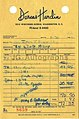 "Jacqueline Kennedy Original 1961 Clothing Receipt ""Per Secty Mary Gallagher"".jpg"
