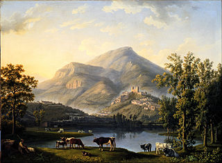 Veduta d'Itri (Landscape with a View of Itri)