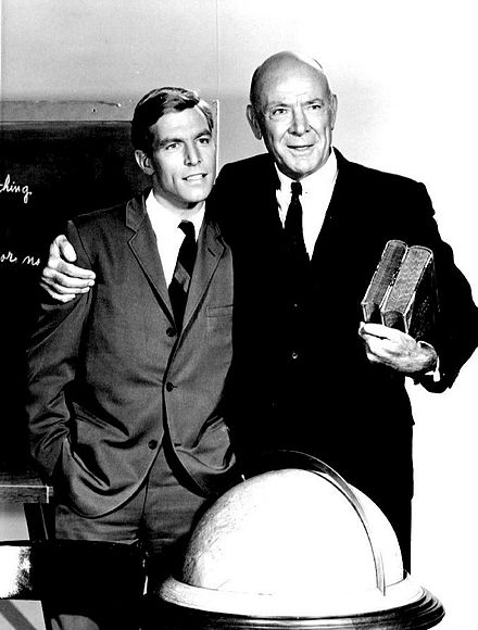 James Franciscus and Jagger from the television series Mr. Novak James Franciscus Dean Jagger Mr. Novak 1964.JPG