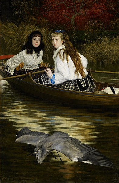 File:James Tissot - On the Thames, A Heron - Google Art Project.jpg