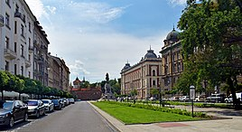 Jan Matejko square (view from N), Kleparz, Krakow, Poland.jpg