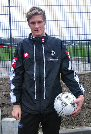 Marcell Jansen - Jansen outside of the training ground at Borussia Mönchengladbach.