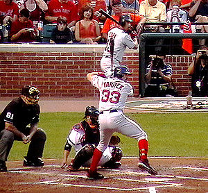 Jason Varitek - Varitek at bat in 2008