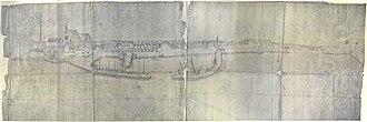 Jasper Danckaerts - Map of New York from Brooklyn Heights, based on a 1679 original by Danckaerts