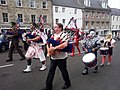 Jedburgh pipe band collecting for charity.jpg