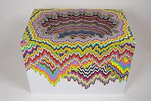 Jen Stark - Cosmic Shift, 2015, sculpture by Jen Stark
