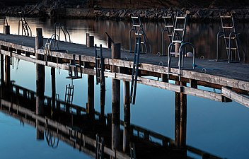 Jetty with the ladders in last light of the day.jpg