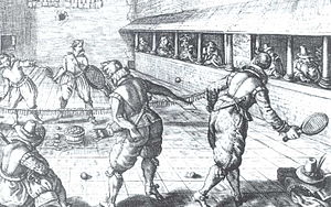 Tennis - Jeu de paume in the 17th century