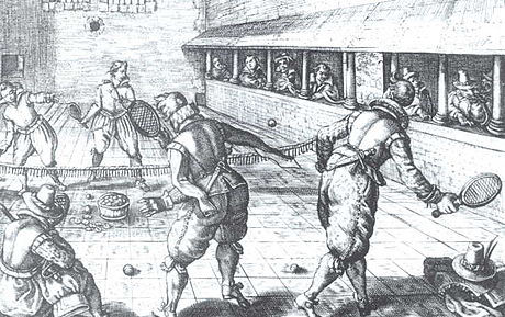 Jeu de paume in the 17th century Jeu de paume002.jpg