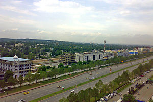 Blue Area - View of Blue Area from Jinnah Avenue Islamabad