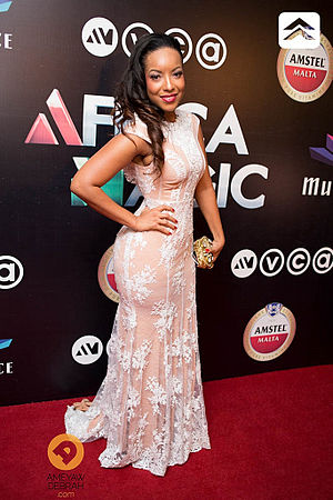 Joselyn Dumas - Joselyn Dumas at the 2014 Africa Magic Viewers Choice Awards