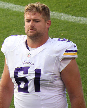 Joe Berger - Berger with the Vikings in 2015