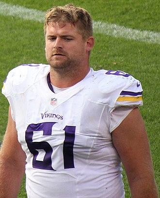 Joe Berger - Berger with the Vikings in 2015