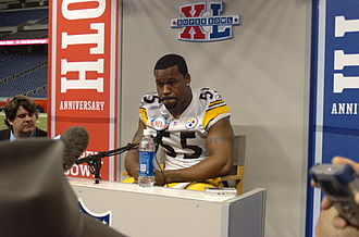 Joey Porter - Porter at Super Bowl XL's media day.