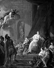 Hermes befaler Kalypso at frigive Odysseus