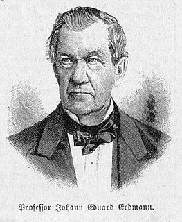 Johann Eduard Erdmann German philosopher