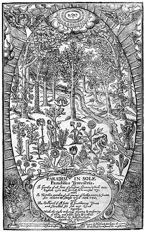 Order of Free Gardeners - Garden of Eden Paradisi in Sole (1629) by John Parkinson