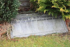 John Christopher Bartholomew - John Christopher's name at the foot of the Bartholomew monument