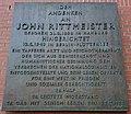 John Rittmeister, Gedenktafel.jpg