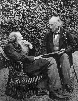 Henry Acland - Henry Acland (right) with John Ruskin in 1893, taken by Acland's daughter, Sarah Angelina Acland.