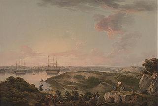 Port Mahon, Minorca with British Men-of-War at Anchor