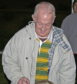 Australian Rugby League Hall of Fame - Johnny Raper (pictured in 2008) was among the inaugural inductees.  His rugby league career spanned the 1950s, 60s and 70s.