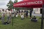 Joint Base Andrews Fire Explorer Academy cadets and instructors prepare for search and rescue training.jpg