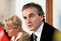 Jonas Gahr Stoere, utrikesminister Norge, leder pressmote under Nordiska radets session i Kopenhamn 2006.jpg