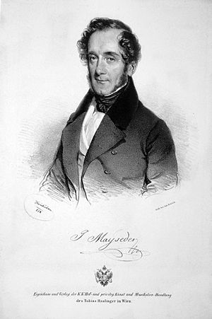Joseph Mayseder - Mayseder in 1838. A lithograph by Josef Kriehuber.