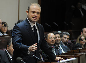 Joseph Muscat - Joseph Muscat addressing Maltese Parliament in November 2011