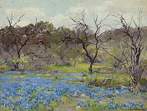 Julian Onderdonk - Image: Julian Onderdonk Early Spring—Bluebonnets and Mesquite Google Art Project