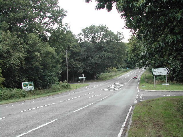 Junction of A614 and Salterford Lane - geograph.org.uk - 36816