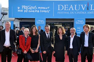 Claire Denis - Denis, second from the left, on the jury at the Deauville American Film Festival.