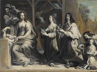 Louis XIII et Anne d'Autriche offrant le royaume à la Vierge lors de la Nativité