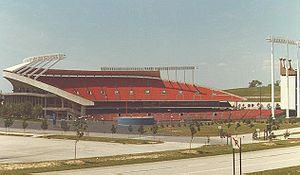 History of the Kansas City Royals - Kauffman Stadium (then Royals Stadium), home of the Royals beginning in 1973.