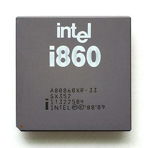 Intel i860 - Intel i860 XR microprocessor (33 MHz edition)