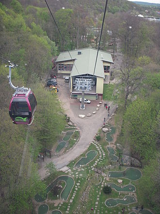 Bode Valley Gondola Lift - The station in Thale