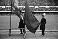 Kaksi pioneeria vasemmiston yhteisessä vappujuhlassa Stadionilla - N154093 - hkm.HKMS000005-000002t1.jpg