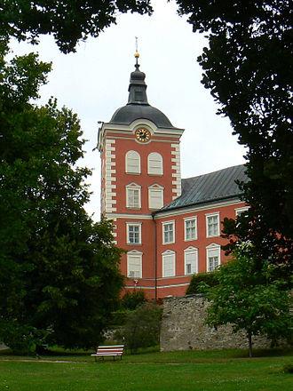 Kamenice nad Lipou - Image: Kamenice nad Lipou zamek z parku