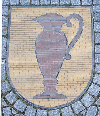 Kandern - Kandern's coat of arms on the Blumenplatz