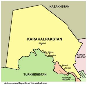 Karakalpakstan - Largest cities of Karakalpakstan