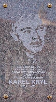 ae831487a pamětní deska Karla Kryla v Olomouci