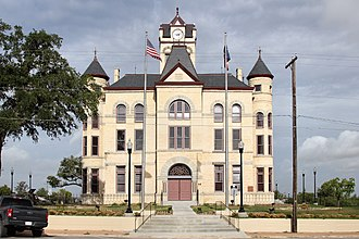 Karnes County, Texas - Image: Karnes County Texas Courthouse East Elevation 2018
