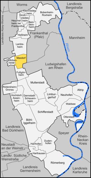 Maxdorf - Image: Karte Maxdorf