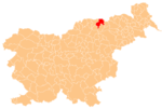 The location of the Municipality of Podvelka