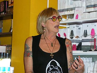 Kate Bornstein - Kate Bornstein at Babeland in Seattle in December 2010