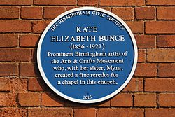Photo of Kate Elizabeth Bunce blue plaque