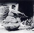 Kate T. Cory, Piki making, photograph, 1905-1912, Museum of Northern Arizona, Flagstaff.jpg