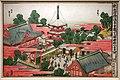 Katsushika Hokusai, il tempio kinryuzan di asakusa, dalla serie nuova edizione di pitture prospettiche, 1809-13 ca. 01.jpg