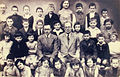 Kaunas Hebrew Realgymnasium second grade class with teachers Abraham Kisin & Y.L. Shochatman c. 1932.jpg